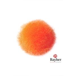 Oranje pompon 25 mm van Rayher