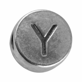 "Silver colored metal letter bead ""Y"" from Rayher"