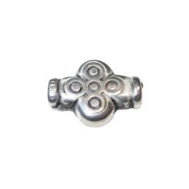 Metalcolored crossform bead