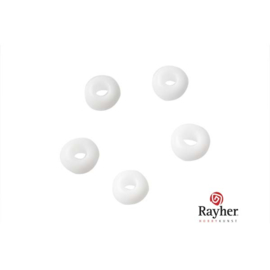 White Indian bead 4,5 mm, Rocaille from rayher