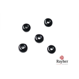 Black Indian bead 4,5mm, Rocaille from Rayher