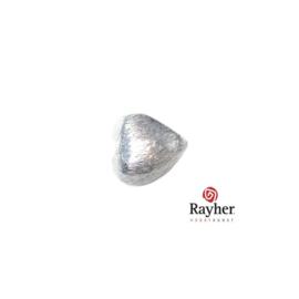 Zilveren hart kraal 8x8 mm
