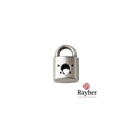 Silver colored metal charm lock