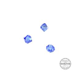 Sapphire Swarovski bicone bead 4 mm