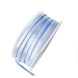 Satijn lint lichtblauw 4 mm