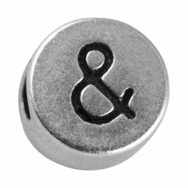 "Silver colored metal letter bead ""&-sign"" from Rayher"