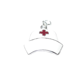 Nurse hat charm made of metal