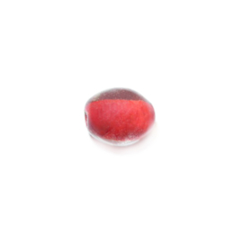 Transparent glass bead with red inside