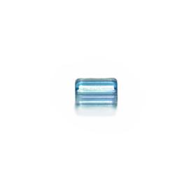 Blauwe glaskraal met 5 hoekjes