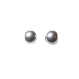 Zilverkleurige, metalen ronde kraal