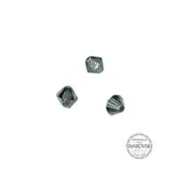 Dark grey Swarovski bicone bead 4 mm