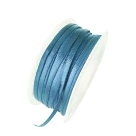 Satijn lint turquoise 4 mm