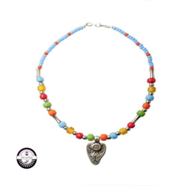 Necklace made with Metalcolored beads