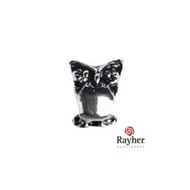 Zilverkleurig metalen Ornament-Uil