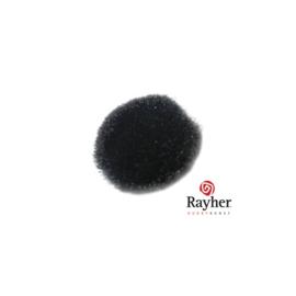 Zwarte pompon 20 mm van Rayher