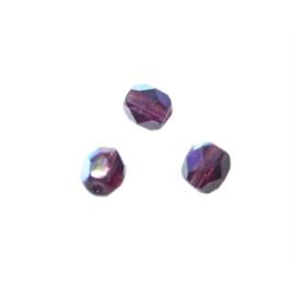 Amethyst glazen facetkraal 6 mm