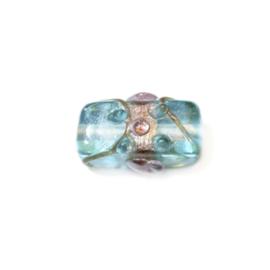 Italian Style Turquoise langwerpige glaskraal