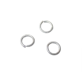 Jump ring 7 mm, Old silver colored