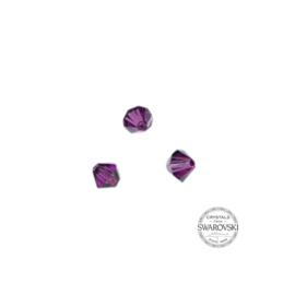 Amethist Swarovski bicone bead 4mm