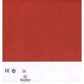 Rood textielvilt soft 30 x 45 cm van Rayher