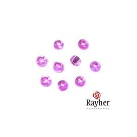 Donker Roze rocaille met zilverkern 2,6 mm van Rayher