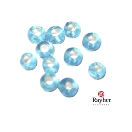 Turquoise rocaille met zilverkern 2,6 mm van Rayher