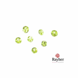Licht Groene rocaille 2,0 mm Transparant