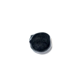 Zwarte platte, ronde glaskraal