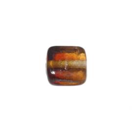 Doorzichtige bruine, vierkanten glaskraal