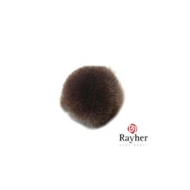 Bruine pompon 20 mm van Rayher