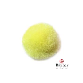 Gele pompon 25 mm van Rayher