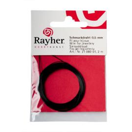 Sierdraad 0,5 mm Zwart van Rayher
