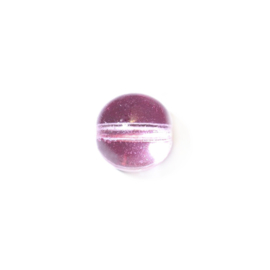 Lichtroze ronde glaskraal