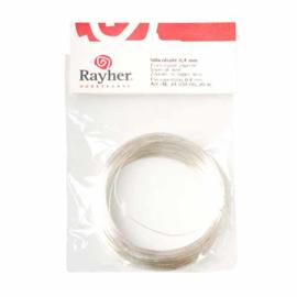 Zilverdraad met koperen kern 0,4 mm van Rayher