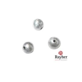 Ronde zilveren kraal, 6 mm