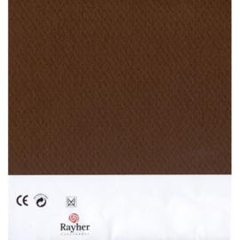 Donkerbruin textielvilt soft 30 x 45 cm van Rayher