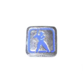 Metalen kraal met een honkballer