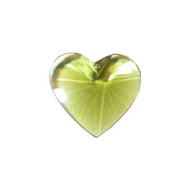 Groen polyester hart