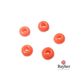 Orange Indian bead 4,5 mm, Rocailles from Rayher