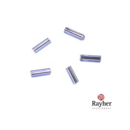 Lichtblauwe glasstift 7/2 mm met zilverkern