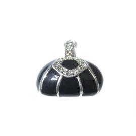 Tas bedel gemaakt van metaal met zwart