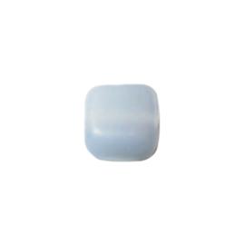 Grijze, matte, vierkante glaskraal