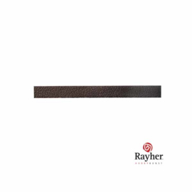 Darkbrown Leatherette tape, flat, 4 mm.