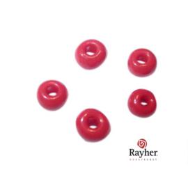 Rode indianenkraal 4,5 mm, Rocailles van Rayher