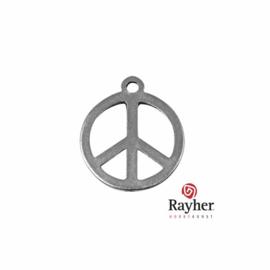 Zilverkleurige metalen Hanger Peace