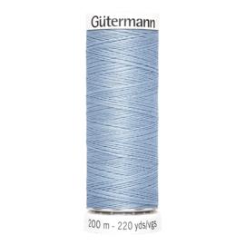 Nr 143 Lichtblauw Gutermann alles naaigaren 200 m.