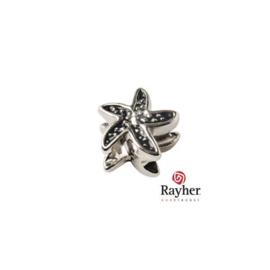 Zilverkleurig metalen ornament zeester
