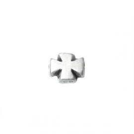 Cross with metalcoloured coating