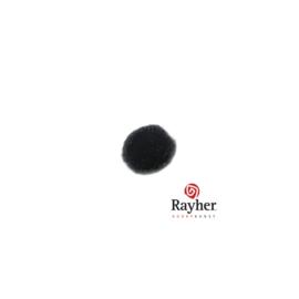 Zwarte pompon 10 mm van Rayher