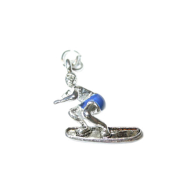 Surfer Charm made of metal
